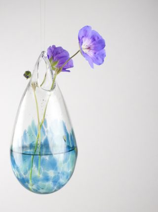 Glass Hanging Vase Aquamarine