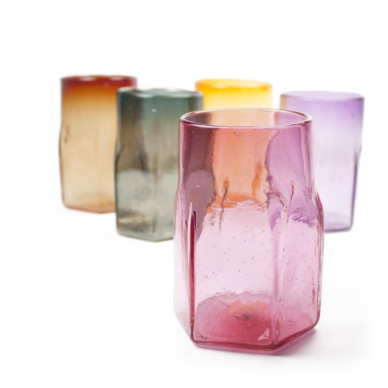 Hexagonal Glass Tumblers